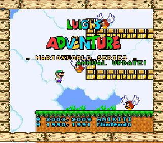 Super Mario World (USA) [Hack by Anikiti v1 2] (~Luigi's